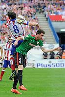 Atletico de Madrid´s Raul Garcia and Athletic Club´s Aymeric Laporte during 2014-15 La Liga match between Atletico de Madrid and Athletic Club at Vicente Calderon stadium in Madrid, Spain. May 02, 2015. (ALTERPHOTOS/Luis Fernandez)