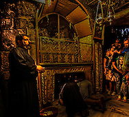 The Holy Manger in Bethlehem, Israel<br /> Photo by Dennis Brack