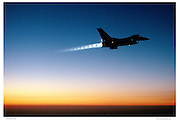 F-16 in full afterburner