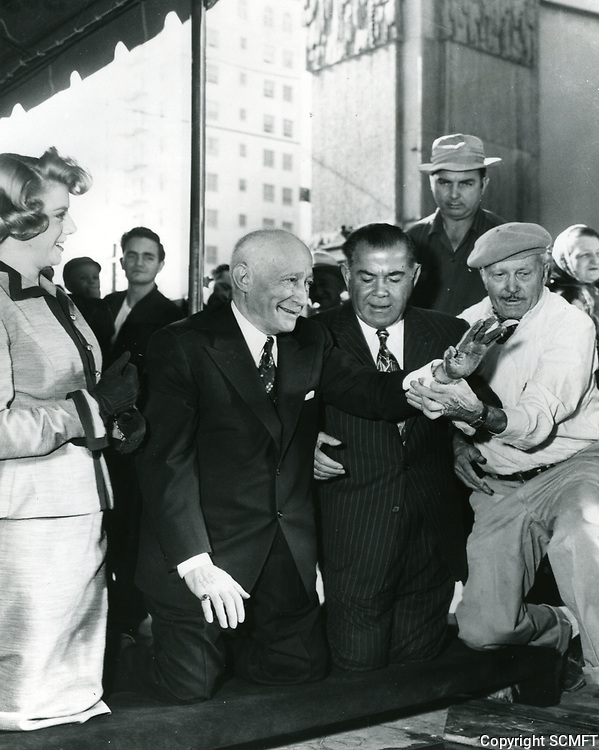 1953 Adolph Zukor's hand/footprint ceremony at the Chinese Theater