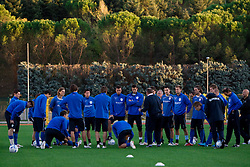 Players of Slovenian National football team at practice a day before the last 2010 FIFA Qualifications match between San Marino and Slovenia, on October 13, 2009, in Olimpico Stadium, Serravalle, San Marino.  (Photo by Vid Ponikvar / Sportida)