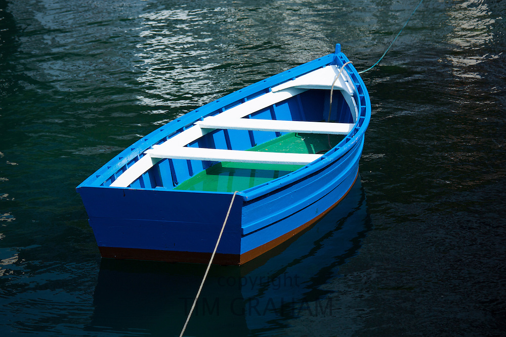 Fishing boat in the harbour at Luarca in Asturias, Spain