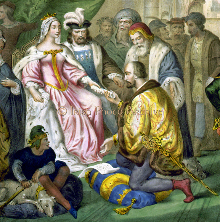 Christopher Columbus before Queen Isabella of Spain