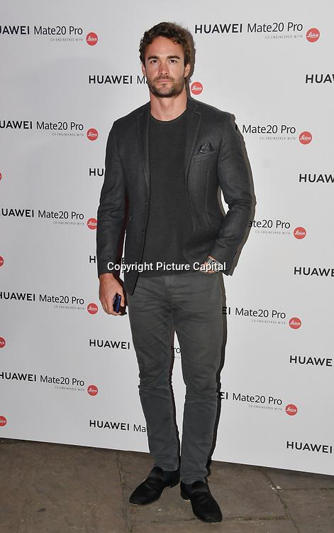 Thom Evans attend Huawei - VIP celebration at One Marylebone London, UK. 16 October 2018.