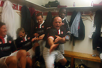 Captain, Guy Branston  (Kettering) leads the celebrations in the dressing room, Kettering Town Eastwood Town FA Cup 3rd rd. 3/1/2009 Credit : Colorsport / Andrew Cowie