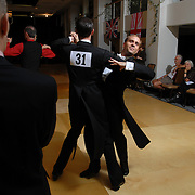 "Same-sex ballroom dancers Soren (umlaut on the ""o""), second from right, and Bradley Stauffer-Kruse compete in the men's standard ballroom competition at the 5 Boro Dance Challenge on May 5, 2007...The locally produced 5 Boro Dance Challenge, New York City's first major same-sex dance competition, was held at the Park Central Hotel in Manhattan from May 4-6, 2007. ."
