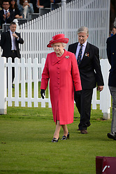 HM THE QUEEN at the 2013 Cartier Queens Cup Polo at Guards Polo Club, Berkshire on 16th June 2013.