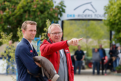 STÜHLMEYER Patrick (GER), ENGEMANN Heinrich-Hermann (Co Bundestrainer Springen GER)<br /> Hagen - Horses and Dreams meets the Royal Kingdom of Jordan 2018<br /> Grosser Preis der DKB Qualifikation DKB-Riders Tour<br /> 29 April 2018<br /> www.sportfotos-lafrentz.de/Stefan Lafrentz