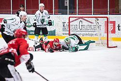Zan US vs Andrej HEBAR during Alps League Ice Hockey match between HDD SIJ Jesenice and HK SZ Olimpija on March 2, 2020 in Ice Arena Podmezakla, Jesenice, Slovenia. Photo by Peter Podobnik / Sportida