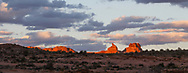 Sunset at Arches National Park, Utah, USA