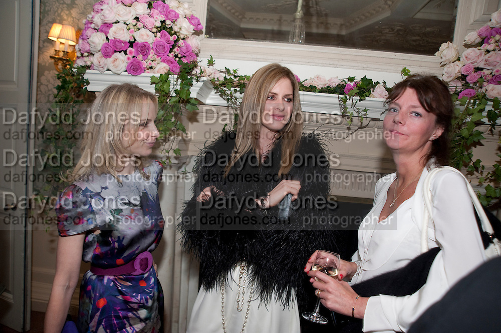 ZANDIE FORBES; TRINNY WOODALL SOPHIA BEDDOES, , The Dowager Duchess od Devonshire and Catherine Ostler editor of the Tatler host a party to celebrate Penguin's reissue of Nancy Mitford's ' Wigs on the Green.'  The French Salon. Claridge's. London. 10 March 2010.