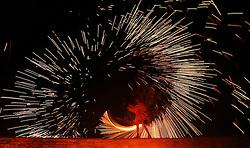 © Licensed to London News Pictures. 27/09/2014. Pilton, UK. The Feast of Michaelmas celebrations - event organised by Glastonbury Festival organiser Michael Eavis at Pilton Tithe Barn. Photo credit : Jason Bryant/LNP