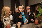ELISABETH VON THURN UND TAXIS, MARIA VON THURN UND TAXIS,, Nicky Haslam hosts dinner at  Gigi's for Leslie Caron. 22 Woodstock St. London. W1C 2AR. 25 March 2015