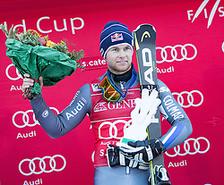 29.12.2016, Deborah Compagnoni Rennstrecke, Santa Caterina, ITA, FIS Ski Weltcup, Santa Caterina, alpine Kombination, Herren, Flower Zeremonie, im Bild Alexis Pinturault (FRA, 1. Platz) // race winner Alexis Pinturault of France during the Flowers ceremony for the men's Downhill of FIS Ski Alpine World Cup at the Deborah Compagnoni race course in Santa Caterina, Italy on 2016/12/29. EXPA Pictures © 2016, PhotoCredit: EXPA/ Johann Groder