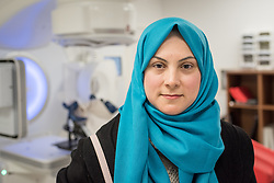 24 February 2020, Jerusalem: 38-year-old Heba Al Aklouk from Gaza city is at the Augusta Victoria Hospital in Jerusalem for Radiotherapy treatment, as she has recently had a tumour removed.
