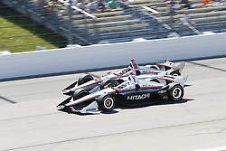 July 8, 2018 - Newton, Iowa, United States of America - JOSEF NEWGARDEN (1) of the United States battles for position during the Iowa Corn 300 at Iowa Speedway in Newton, Iowa. (Credit Image: © Justin R. Noe Asp Inc/ASP via ZUMA Wire)