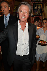RICHARD CARING at a party to celebrate 35 years of Harry's Bar, 26 South Audley Street, London on 19th September 2014.