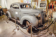"""The car from the film High Sierra (1941) is a 1937 Plymouth Coupe (loaned from the James E Rogers Collection), displayed at the Museum of Western Film History, 701 S. Main Street, Lone Pine, California, 93545, USA. In the climactic movie sequence, """"Mad Dog"""" Earle, played by Humphrey Bogart, flees from police by accelerating the Plymouth Coupe up scenic Whitney Portal Road. Web site: www.lonepinefilmhistorymuseum.org"""