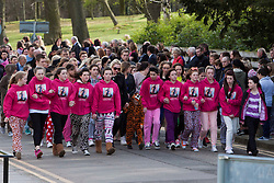 © Licensed to London News Pictures. 17/04/2014. Edinburgh, Scotland. Keane Wallis Bennett funeral took place today at Morton Hall Crematorium Edinburgh. 12-year-old Keane Wallis-Bennett, died after a wall fell on her at Liberton High School in  Edinburgh. Photo credit : Duncan McGlynn/LNP
