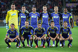 Players of NK Maribor during football match between NK Maribor and Panathinaikos Athens F.C. (GRE) in 1st Round of Group Stage of UEFA Europa league 2013, on September 20, 2012 in Stadium Ljudski vrt, Maribor, Slovenia. (Photo By Matic Klansek Velej / Sportida)