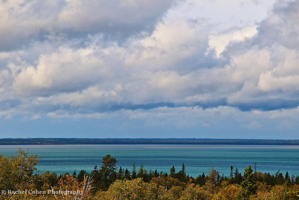 """""""Superior Lines""""<br /> <br /> Beautiful glimpse of Lake Superior from above the tree line!!<br /> <br /> The Great Lakes by Rachel Cohen"""