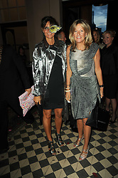 Left to right, COUNTESS DEBONAIRE VON BISMARCK and PRINCESS CHANTAL OF HANOVER at 'Superficial Butterfly' a party hosted by Amanda Eliasch to celebrate her 50th birthday held at Number One Mayfair (St Marks Church) North Audley Street, London on 12th May 2010.