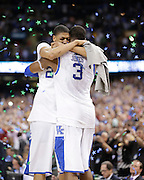 as Kentucky won it's 8th National championship over Kansas  67-59  on Monday  April 2, 2012 in New Orleans , LA. Photo by Mark Cornelison | Staff
