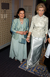 Left to right, PROF.MARGARET HODGSON and HRH PRINCESS ALEXANDRA  at a ball in aid of Cystic Fibrosis Trust held at the London Marriott, Grosvenor Square, London on 28th October 2005.<br /><br />NON EXCLUSIVE - WORLD RIGHTS