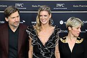 Nikolaj Coster-Waldau, Nadja Schildknecht und Katrin Pors auf dem Grünen Teppich beim 15th Zurich Film Festival. Zürich, 05. Oktober 2019.