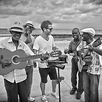 These old timers were having a great time playing for passers by near the waterfront in Havana, Cuba.