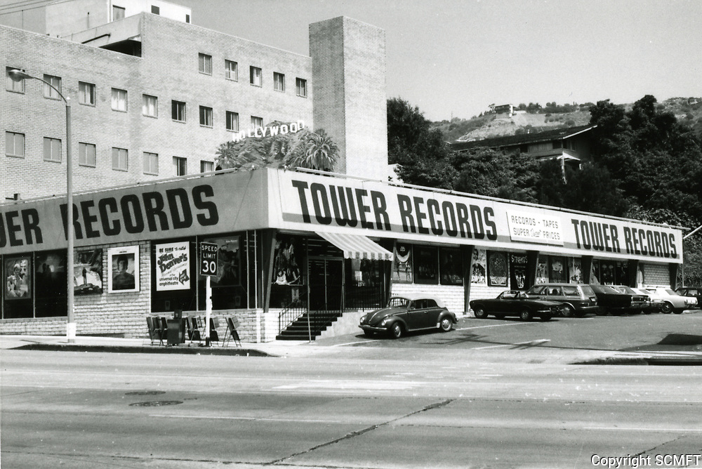 1973 Tower Records on Sunset Blvd. in West Hollywood