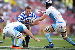 Cape Town-181020 Western Province Wilco Louw challenged by Vodacom Blue Bulls players  in the Currie Cup Semi-final game at Newlands  .Photographer:Phando Jikelo/African News Agency(ANA)