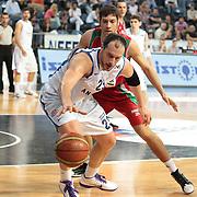 Anadolu Efes's Ermal Kurtoglu (F) during their Turkish Basketball League Play Off match Anadolu Efes between Pinar Karsiyakaat Sinan Erdem Arena in Istanbul, Turkey, Sunday, May 06, 2012. Photo by TURKPIX