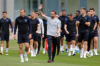 SAINT PETERSBURG, RUSSIA - JUNE 13: England national team head coach Gareth Southgate greets public during an England national team training session ahead of the FIFA World Cup 2018 in Russia at Stadium Spartak Zelenogorsk on June 13, 2018 in Saint Petersburg, Russia.