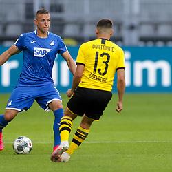 Raphael Guerreiro (Borussia Dortmund, #13), Pavel Kaderabek (TSG 1899 Hoffenheim, #3); 1. Fussball-Bundesliga; Borussia Dortmund - TSG Hoffenheim am 27.06.2020 im Signal-Iduna-Park in Dormund (Nordrhein-Westfalen). <br /> <br /> FOTO: BEAUTIFUL SPORTS/WUNDERL/POOL/PIX-Sportfotos<br /> <br /> DFL REGULATIONS PROHIBIT ANY USE OF PHOTOGRAPHS AS IMAGE SEQUENCES AND/OR QUASI-VIDEO. <br /> <br /> EDITORIAL USE OLNY.<br /> National and<br /> international NewsAgencies OUT.<br /> <br /> <br /> <br /> Foto © PIX-Sportfotos *** Foto ist honorarpflichtig! *** Auf Anfrage in hoeherer Qualitaet/Aufloesung. Belegexemplar erbeten. Veroeffentlichung ausschliesslich fuer journalistisch-publizistische Zwecke. For editorial use only. DFL regulations prohibit any use of photographs as image sequences and/or quasi-video.