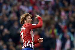 February 9, 2019 - Madrid, Madrid, Spain - Antoine Griezmann of Atletico Madrid celebrates after scoring his sides first goal during the week 23 of La Liga between Atletico Madrid and Real Madrid at Wanda Metropolitano stadium on February 09 2019, in Madrid, Spain. (Credit Image: © Jose Breton/NurPhoto via ZUMA Press)