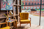 The Wish List – Sir Terence Conran matched established designers with emerging designers to challenge them to make a piece they had always desired -  including a shed designed for Sir Paul Smith. Here with a view of Madejeski Garden<br /> Crest by Zaha Hadid commissioned by<br /> Meliã Hotels International <br /> . The London Design Festival at the V&A, South Kensington, London 12 Sept 2014.