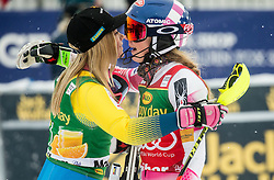 Frida Hansdotter (SWE) and Mikaela Shiffrin (USA) after  the 6th Ladies'  Slalom at 53rd Golden Fox - Maribor of Audi FIS Ski World Cup 2016/17, on January 8, 2017 in Pohorje, Maribor, Slovenia. Photo by Vid Ponikvar / Sportida
