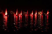 Red Sail Boat Regatta on Harveys Lake, a Labor Day tradition.