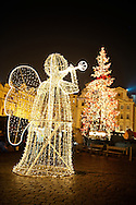 Christmas lights in the Old Town Square - Prague - Czech Republic