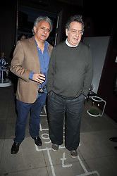 Left to right, HANIF KUREISHI and STEPHEN FREARS at a reception to celebrate the launch of Liberatum's Russian Anglo Arts Festival (Anglomockba)  held at Sketch, London on 27th April 2009.