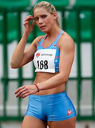 Snezana Rodic during triple jump at Slovenian National Championships in athletics 2010, on July 17, 2010 in Velenje, Slovenia. (Photo by Vid Ponikvar / Sportida)