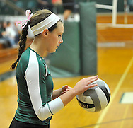Vermilion at Elyria Catholic Varsity volleyball on September 18, 2012. Images © David Richard and may not be copied, posted, published or printed without permission.