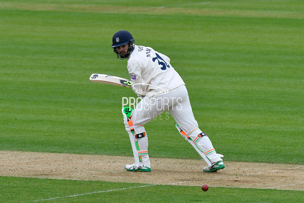 Rilee Rossouw of Hampshire batting during the first day of the Specsavers County Champ Div 1 match between Hampshire County Cricket Club and Essex County Cricket Club at the Ageas Bowl, Southampton, United Kingdom on 5 April 2019.