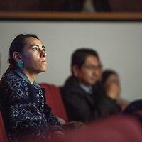 Dana Eldridge in the audience at the International Uranium Film Festival, Thursday, Nov. 29 at the Navajo Nation Museum in Window Rock.