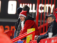 Photo: Leigh Quinnell/Sportsbeat Images.<br /> Charlton Athletic v Hull City. Coca Cola Championship. 22/12/2007. Hull fan Santa watches the game.