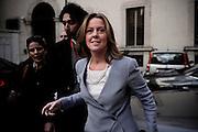 Beatrice Lorenzin esce da Palazzo Chigi, dopo aver partecipato al primo Consiglio dei Ministri del governo Renzi. Roma, 22 febbraio 2014. Christian Mantuano / OneShot