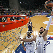 Real Madrid's Nicola Mirotic (C) during their Turkish Airlines Euroleague Basketball Game 10 match Anadolu Efes between Real Madrid at the Abdi ipekci Arena in Istanbul, Turkey, Thursday, December 19, 2013. Photo by Aykut AKICI/TURKPIX