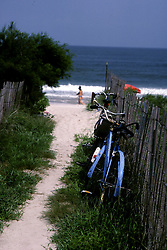 D. Ross Cameron 8/86<br /> <br /> Bicycles by the path to the Henlopen Acres Beach Club in Rehoboth Beach, Del.