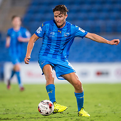 BRISBANE, AUSTRALIA - SEPTEMBER 20: Nikola Mirkovic of Gold Coast City in action during the Westfield FFA Cup Quarter Final match between Gold Coast City and South Melbourne on September 20, 2017 in Brisbane, Australia. (Photo by Gold Coast City FC / Patrick Kearney)